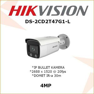 HIKVISION 4MP BULLET KAMERA 4mm DS-2CD2T47G1-L