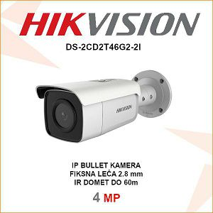 HIKVISION 4MP IP 2.8mm ACUSENSE KAMERA DS-2CD2T46G2-2I