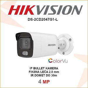 HIKVISION 4MP IP 2.8mm COLORVU KAMERA DS-2CD2047G1-L