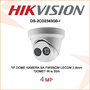 HIKVISION 4MP IP DOME KAMERA 2,8mm