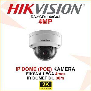 HIKVISION 4MP IP DOME KAMERA 4mm