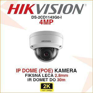 HIKVISION 4MP IP DOME POE KAMERA DS-2CD1143G0-I