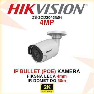HIKVISION 4MP IP MINI BULLET 4mm KAMERA DS-2CD2043G0-I