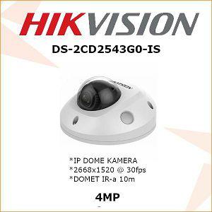 HIKVISION 4MP IP MINI DOME 2,8mm KAMERA ZA VIDEO NADZOR DS-2CD2543G0-IS