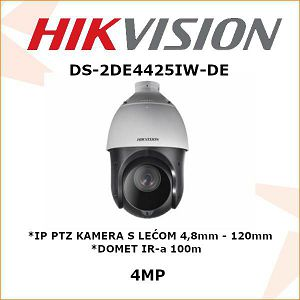 HIKVISION 4MP IP PTZ KAMERA 4,8mm - 120mm
