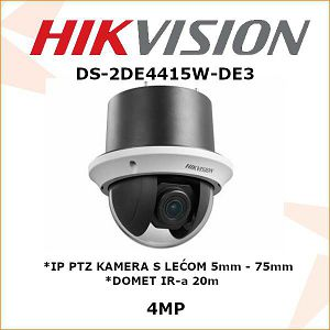 HIKVISION 4MP IP PTZ KAMERA 5mm - 75mm