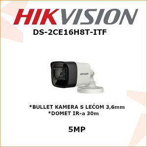 HIKVISION 5MP BULLET KAMERA 3,6mm