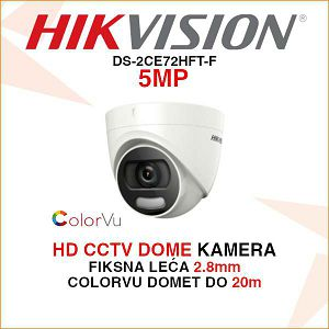 HIKVISION 5MP COLORVU DOME KAMERA DS-2CE72HFT-F28