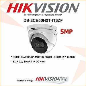 HIKVISION 5MP DOME KAMERA MOTOR ZOOM 2.7-13.5MM