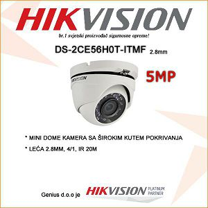 HIKVISION 5MP MINI DOME 2,8mm