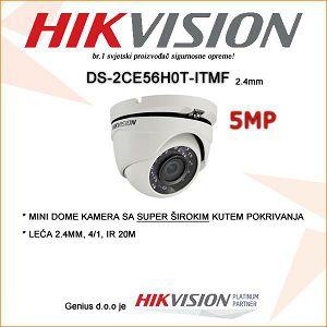 HIKVISION 5MP MINI DOME SA LEĆOM 2.4MM
