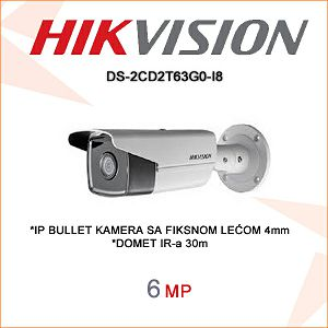HIKVISION 6MP IP BULLET KAMERA 4mm