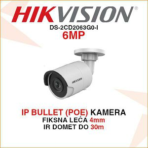HIKVISION 6MP IP MINI BULLET 4mm KAMERA DS-2CD2063G0-I