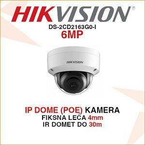 HIKVISION 6MP IP POE 4mm KAMERA ZA VIDEO NADZOR DS-2CD2163G0-I