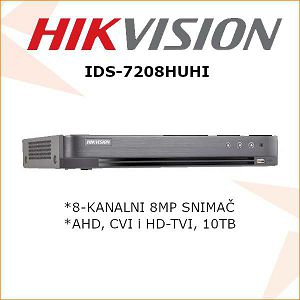 HIKVISION 8MP 4 KANALNI DIGITALNI VIDEO SNIMAČ