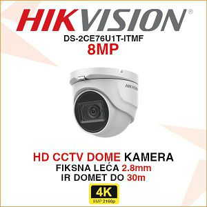 HIKVISION 8MP DOME KAMERA DS-2CE76U1T-ITMF