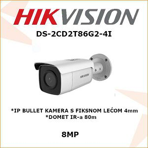 HIKVISION 8MP IP BULLET KAMERA 4mm