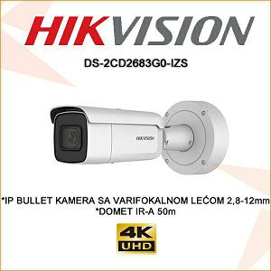HIKVISION 8MP IP KAMERA DS-2CD2683G0-IZS