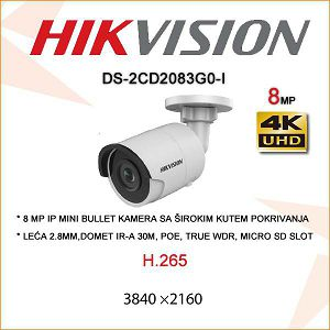 HIKVISION 8MP IP MINI BULLET KAMERA 2.8mm
