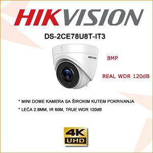 HIKVISION 8MP(4K) DOME KAMERA 60M IR