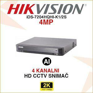 HIKVISION ACUSENSE 4MP 4 KANALNI DIGITALNI VIDEO SNIMAČ iDS-7204HQHI-M1/S
