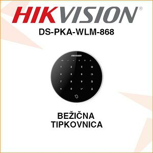 HIKVISION BEŽIČNA TIPKOVNICA - CRNA DS-PKA-WLM-868