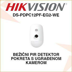 HIKVISION BEŽIČNI PIR DETEKTOR S UGRAĐENOM KAMEROM DS-PDPC12PF-EG2-WE