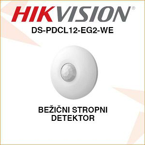 HIKVISION BEŽIČNI STROPNI DETEKTOR DS-PDCL12-EG2-WE
