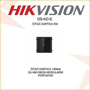 HIKVISION ČITAČ EM KARTICA ZA MODULARNE IP/ANALOGNE PORTAFONE DS-KD-E