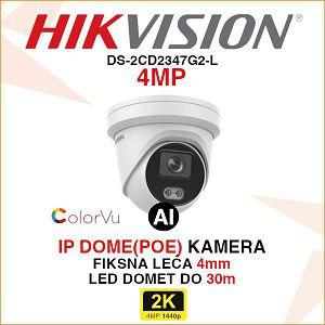 HIKVISION COLORVU 4MP IP DOME 4mm KAMERA DS-2CD2347G2-L
