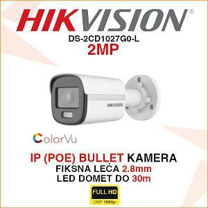 HIKVISION COLORVU IP KAMERA 2MP DS-2CD1027G0-L