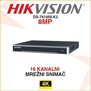 HIKVISION DIGITALNI SNIMAČ DS-7616NI-K2