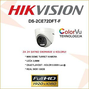 HIKVISION MINI DOME COLOR VU KAMERA 2MP