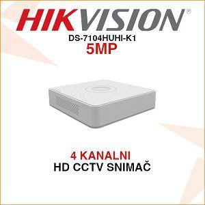 HIKVISION DVR 4 KANALNI 5MP SNIMAČ DS-7104HUHI-K1