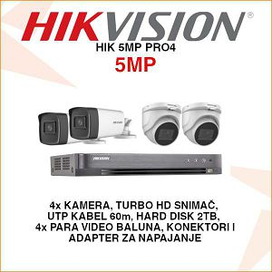 HIKVISION SET ZA VIDEO NADZOR S 4 KAMERE