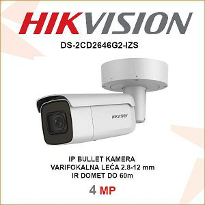 HIKVISION IP 4MP BULLET IR KAMERA DS-2CD2646G2-IZS