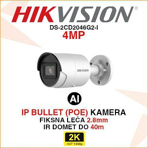 HIKVISION IP 4MP IR ACUSENSE KAMERA 2.8mm DS-2CD2046G2-I