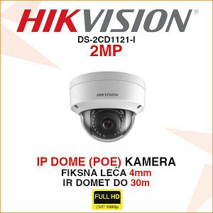HIKVISION IP DOME 4mm 2MP KAMERA DS-2CD1121-I