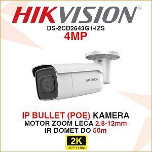 HIKVISION IP MOTOR ZOOM KAMERA DOMETA DO 50m DS-2CD2643G1-IZS