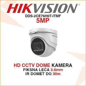 HIKVISION HD CCTV 5MP DOME KAMERA DS-2CE76H0T-ITMF 3.6mm