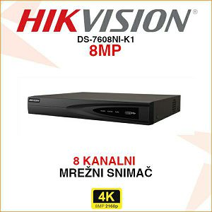 HIKVISION MREŽNI NVR ZA 8 KAMERA DO 8MP