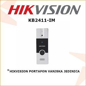 HIKVISION PORTAFON VANJSKA JEDINICA KB2411-IM