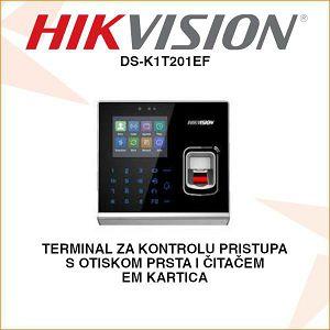 HIKVISION TERMINAL ZA KONTROLU PRISTUPA S OTISKOM PRSTA (EM KARTICE)