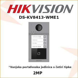 HIKVISION VANJSKA PORTAFONSKA JEDINICA S 4 TIPKE