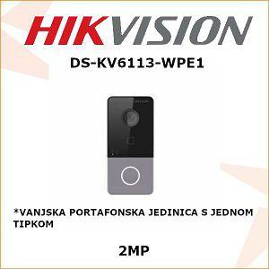 HIKVISION WI-FI VANJSKA PORTAFONSKA JEDINICA S 1 TIPKOM