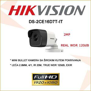 HIKVISION 2MP MINI BULLET WDR KAMERA 2.8MM