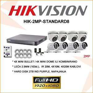 HIKVISON 2MP KOMPLET SA 8 KAMERA PLUG&PLAY