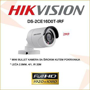 HIKVISION 2MP MINI BULLET KAMERA 2.8MM