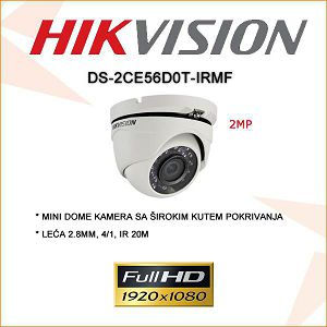 HIKVISION 2MP  MINI DOME KAMERA 2.8MM