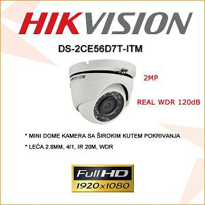 HIKVISION 2MP MINI DOME WDR KAMERA 2.8MM